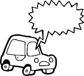 Honk Horn In Car Clipart.