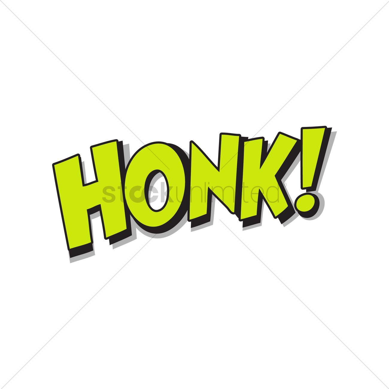 Comic word honk Vector Image.