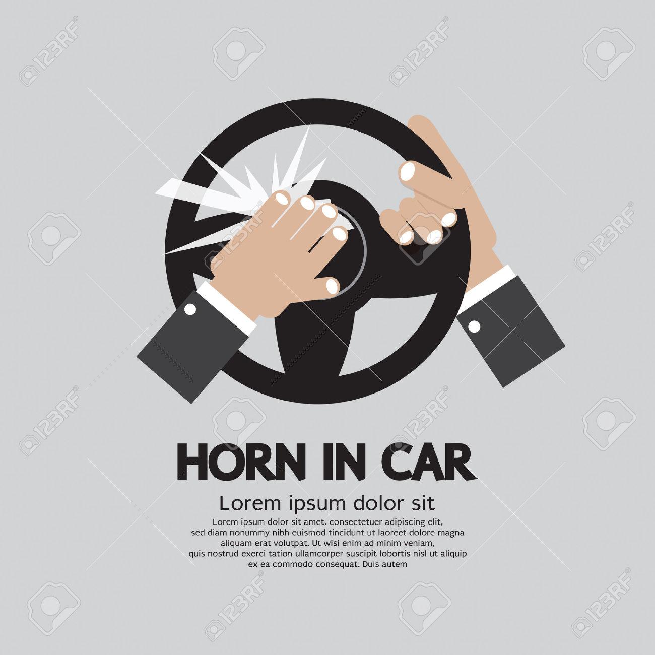Car horn clipart.