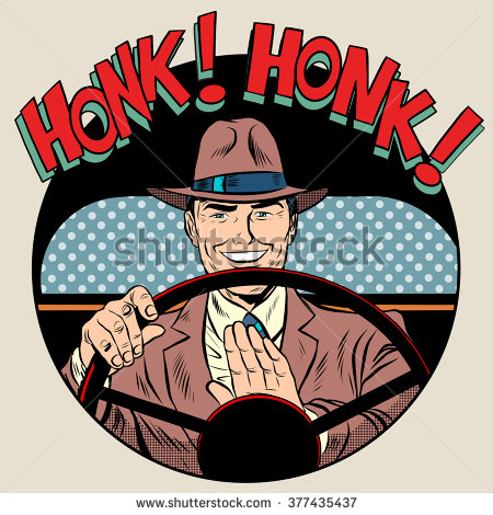 Showing post & media for Honking drivers cartoon.