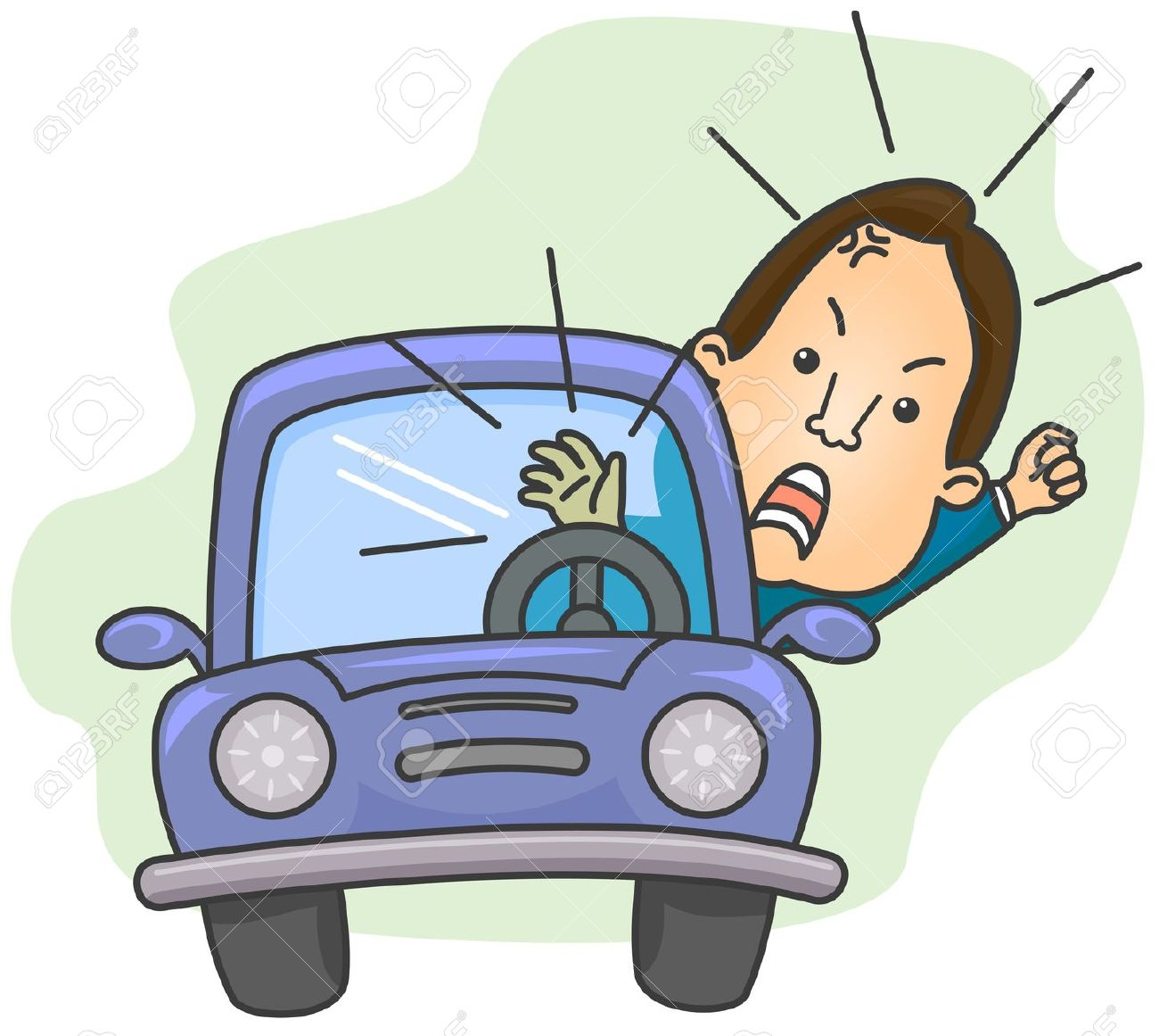 Showing post & media for Taxi cab driver honking cartoon.
