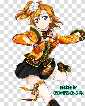 Honoka Kousaka transparent background PNG cliparts free.