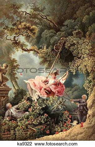 Stock Photo of 1700S 1767 The Swing By French Painter Of Rococo.