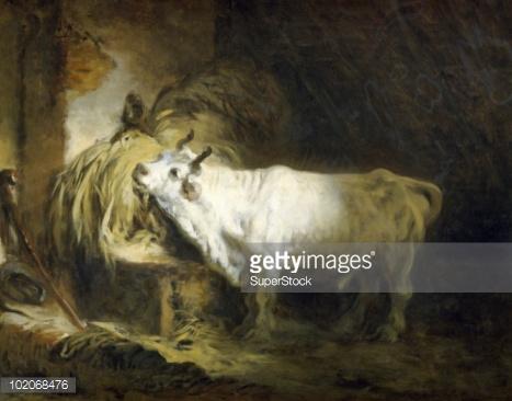 The White Bull By Jean Honore Fragonard Fine art.