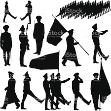 Image result for honor guard drill team silhouette.