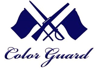 Military color guard clipart.
