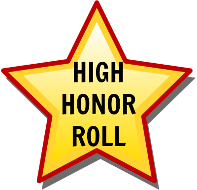 High Honor Roll: Grade 8, 3rd Marking Period 2018.