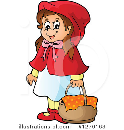Little red riding hood clip art.