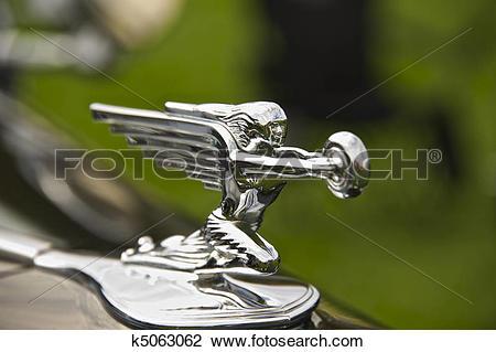 Stock Photo of Classic Car Hood Ornament 13 k5063062.
