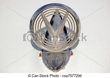 Stock Photo of Hood ornament.