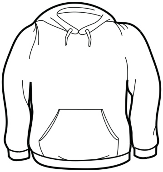 Hooded Sweatshirt Clipart.