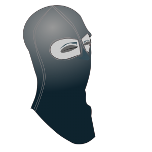 Hooded head clipart.