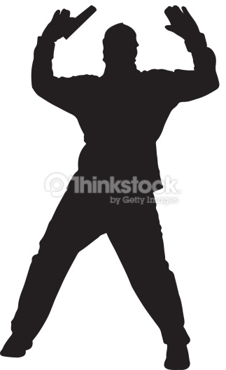 Hooded Man With Gun Silhouette Vector Art.