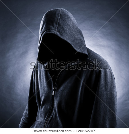 Hooded Man Silhouette Stock Images, Royalty.