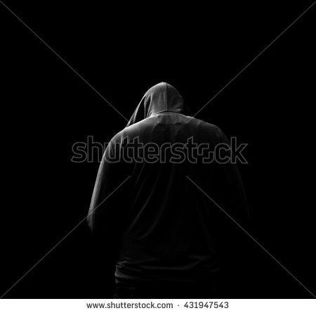 Hooded Man Stock Images, Royalty.
