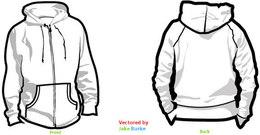 Zipper Hoodie Clip Art, Vector Zipper Hoodie.