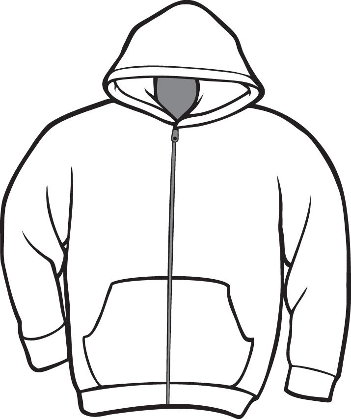 Zip up hoodie clipart.
