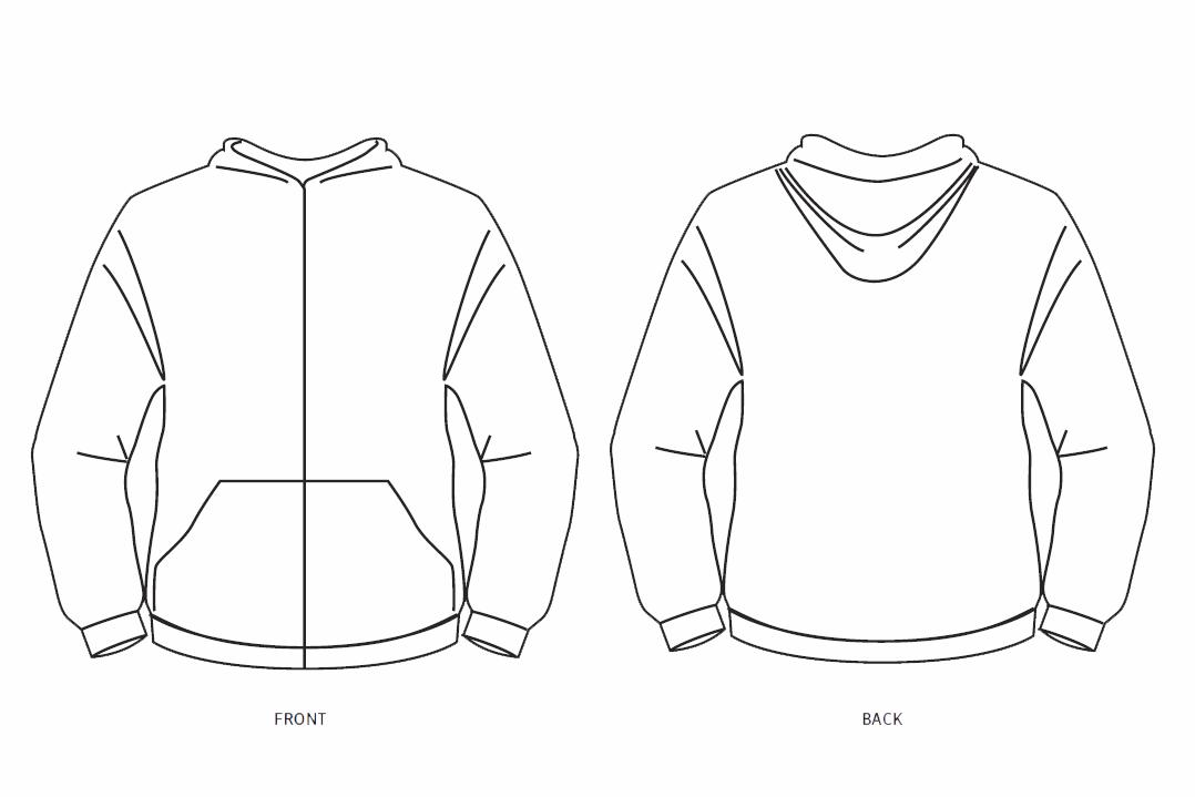 Zip Hoodie Design Template.