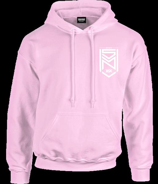 Crest Logo Baby Pink Pastel Hoodie.