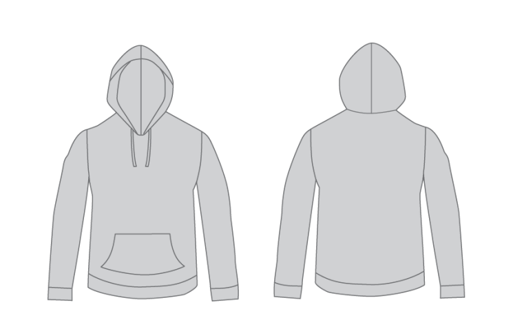 Free Vector Hoodie Template For Designers.