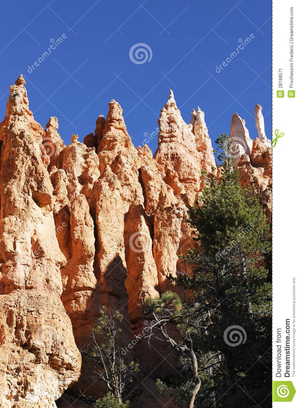 Hoodoo Rock Spires Stock Image.