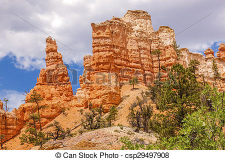 Stock Photography of Hoodoos Fairyland Bryce Canyon National Park.