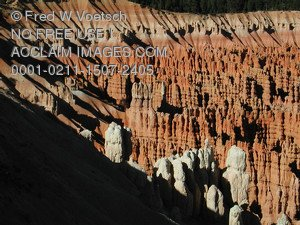 Clip Art Stock Photo of Hoodoos in Bryce Amphitheater, Bryce.