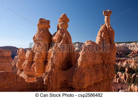 Stock Photo of Hoodoos of Bryce Canyon National Park.