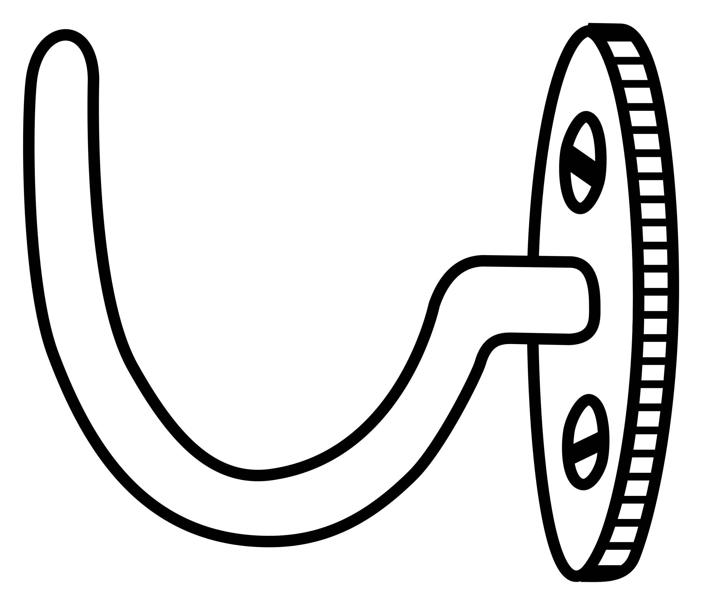 Hook clipart black and white.