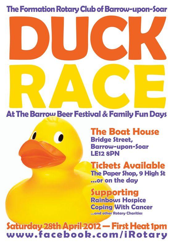 Duck Race Poster.