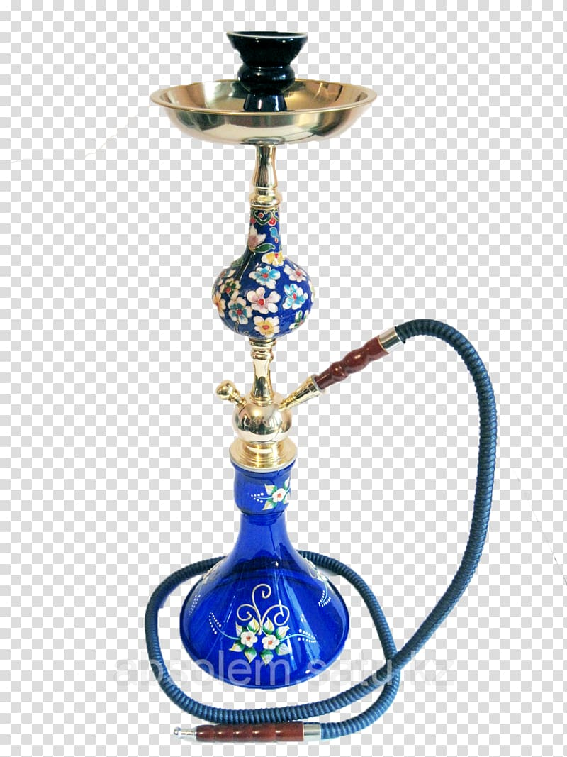 Cobalt blue Odnoklassniki Glass Hookah Brass, shisha.
