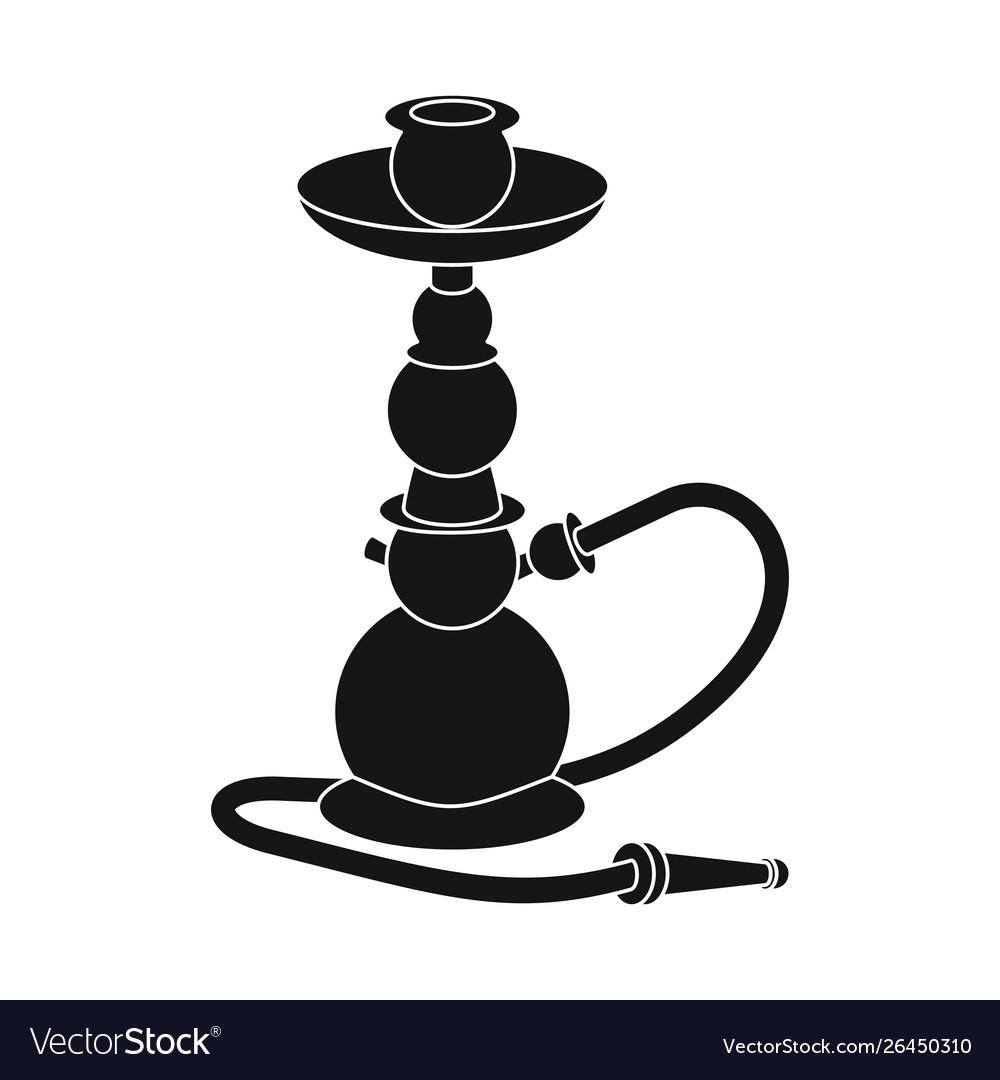 Isolated object hookah and smoke logo.
