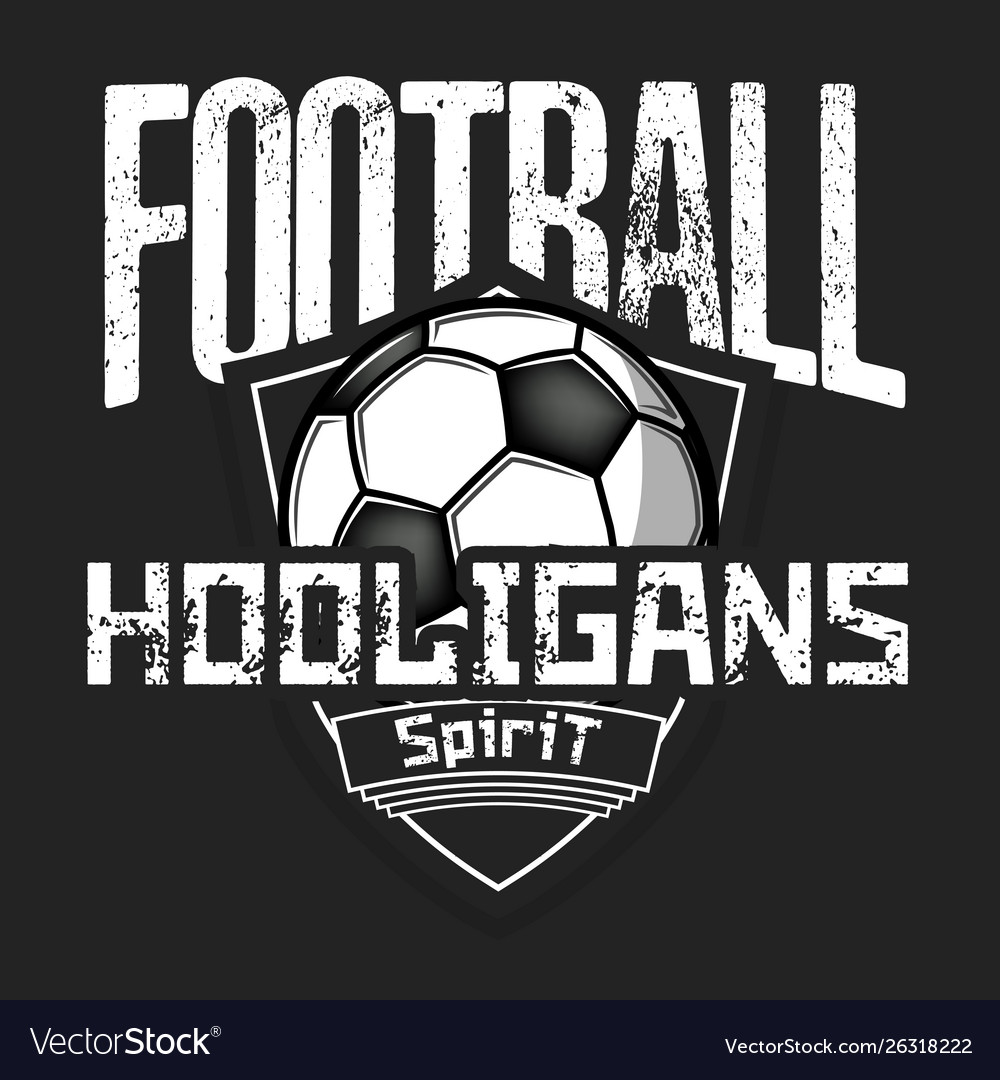 Football logo football hooligans spirit.