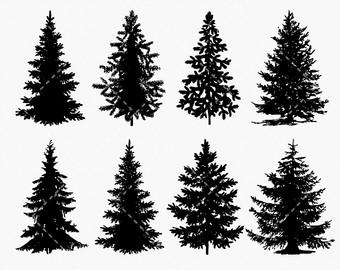 Pine tree clip art.