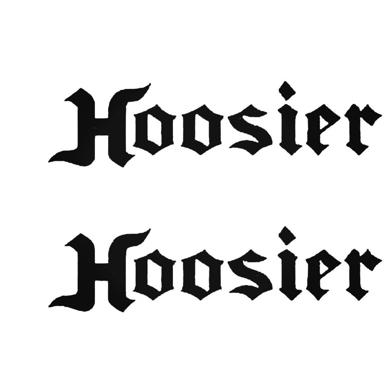 Hoosier Decal Sticker.
