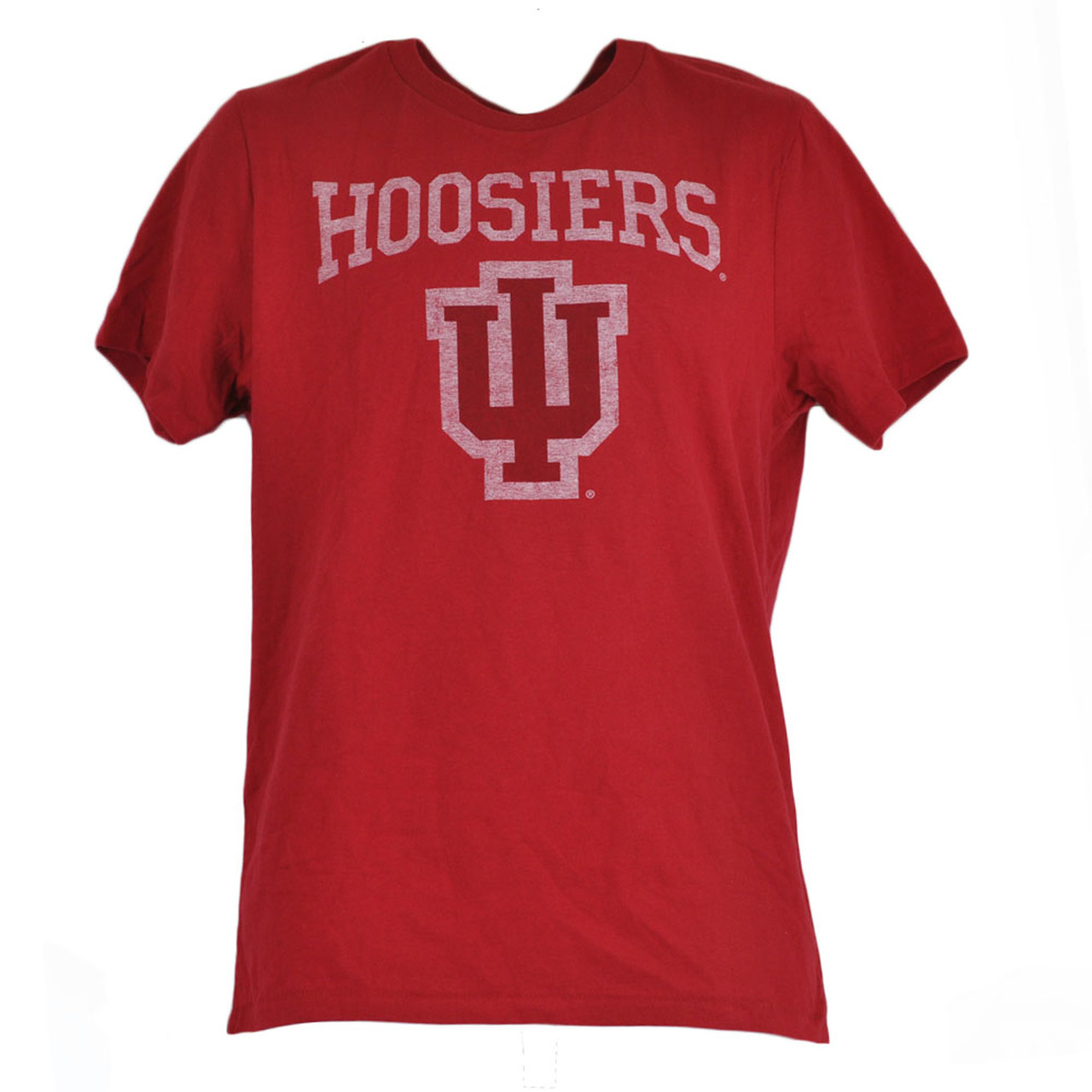 NCAA Indiana Hoosiers Distressed Red Basic Logo College Shirt Tshirt Tee.