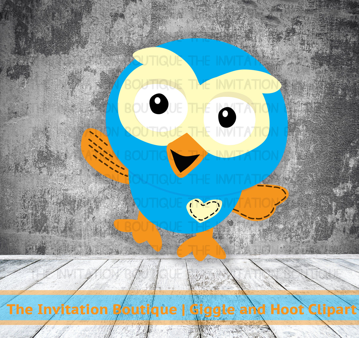 Giggle and Hoot Inspired Digital Clip Art by TheInvitationBoutiqu.