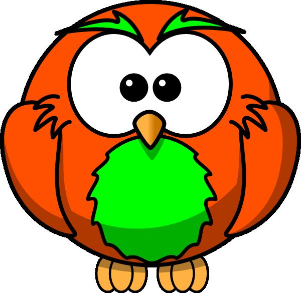 Orange And Green Hoot Clip Art at Clker.com.