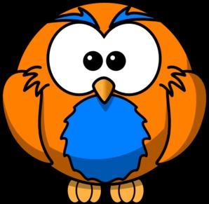Orange And Blue Hoot Clip Art at Clker.com.