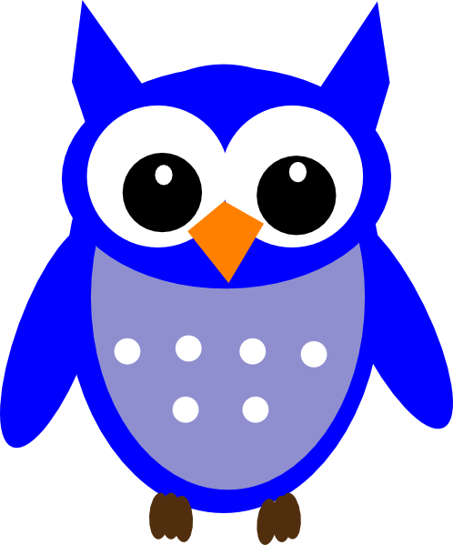 Blue Hoot Owl Clip Art at Clker.com.