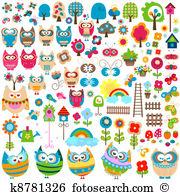 Hooter Clip Art Illustrations. 530 hooter clipart EPS vector.