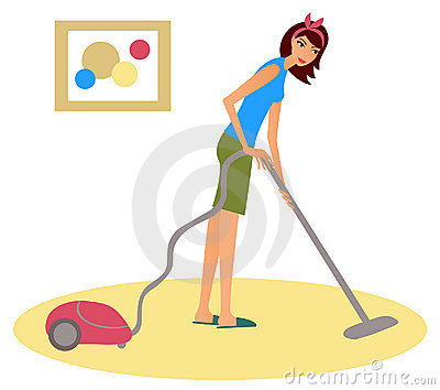 Woman Hoover Stock Photos, Images, & Pictures.