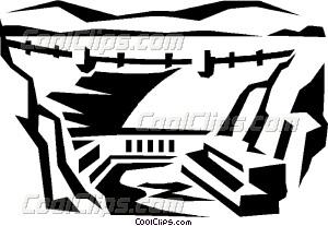 Hoover dam Vector Clip art.
