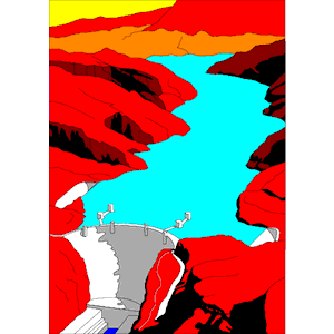Hoover dam clipart.