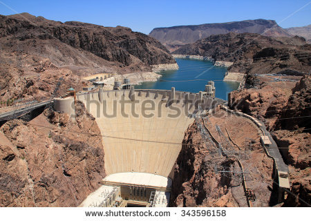 Aerial View Hoover Dam Stock Photo 79322854.