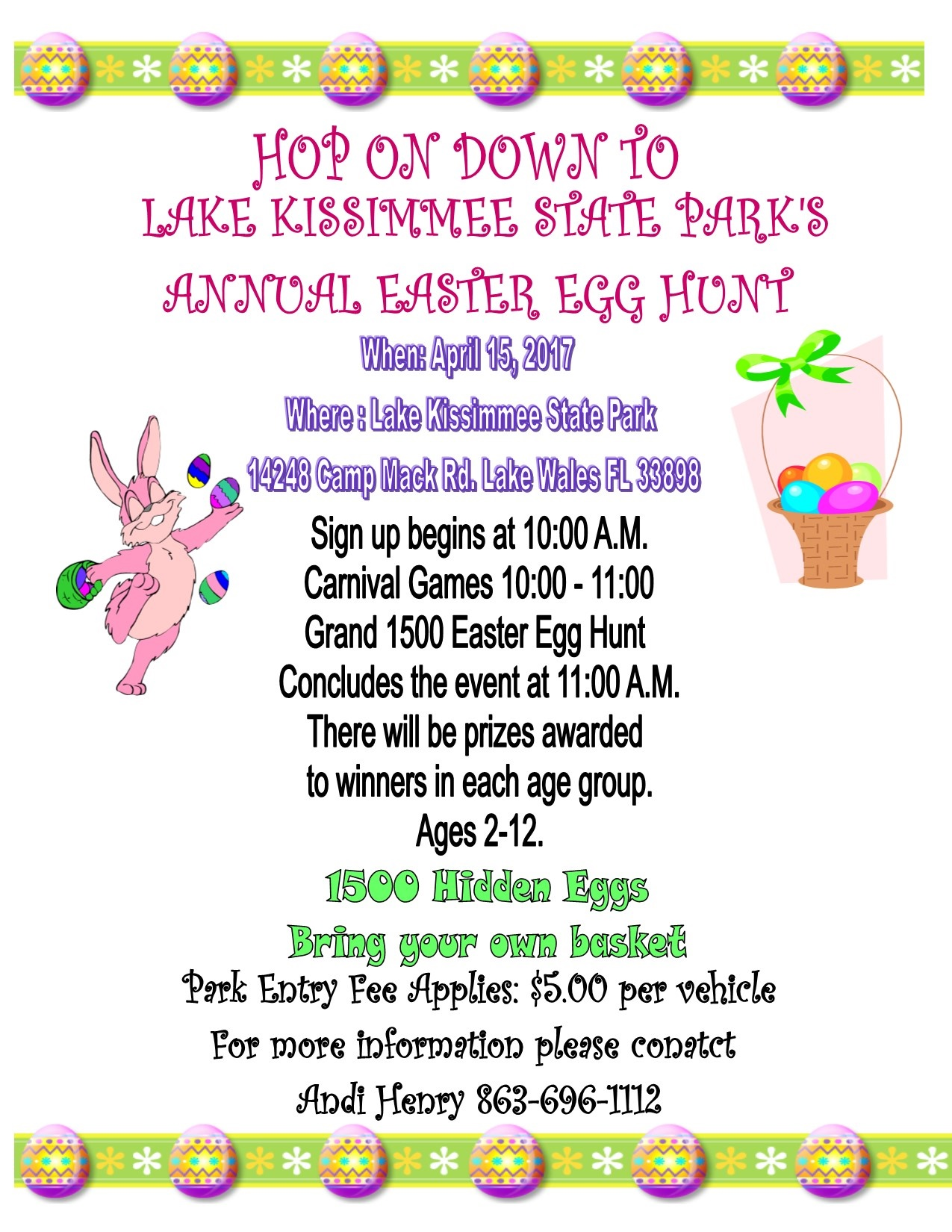 Hop On Down To Lake Kissimmee State Park's Annual Easter Egg Hunt.