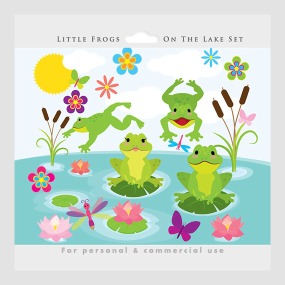 Hop on the lake clipart #19