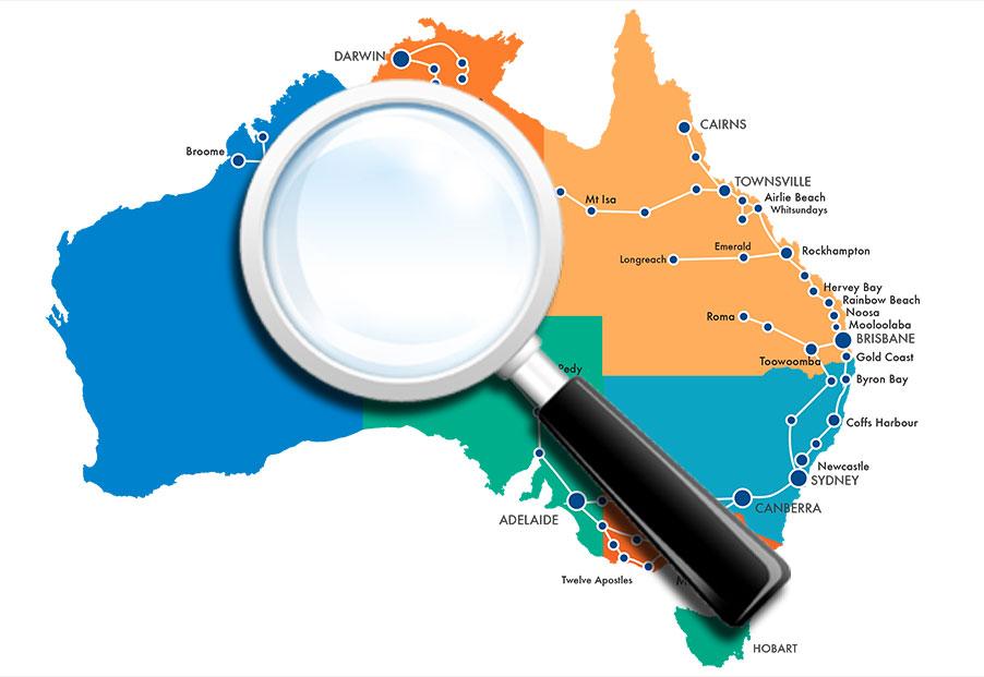 """Der """"Hop on Hop off Pass"""" von Greyhound für Australien."""