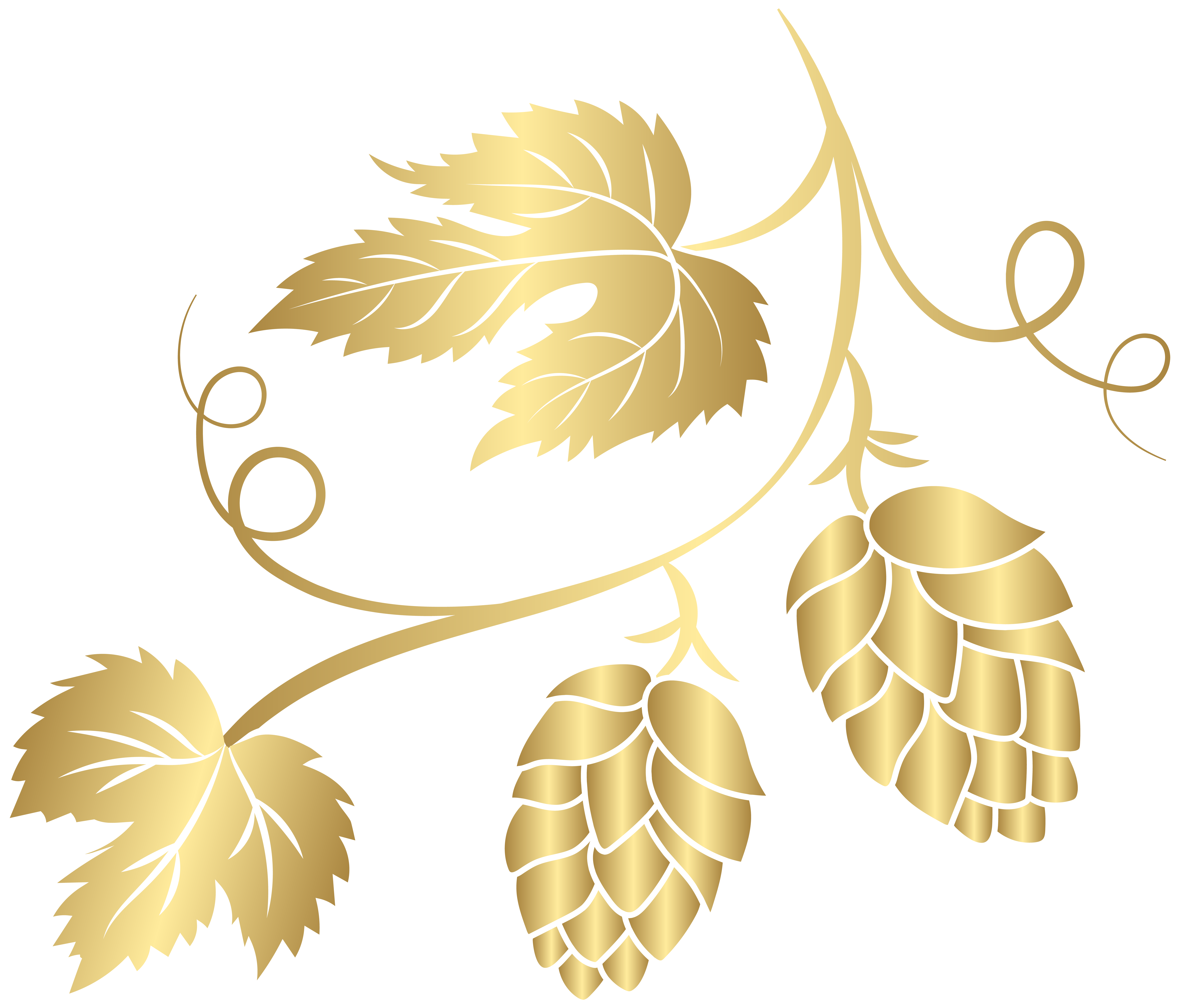 Gold Hop Transparent PNG Clip Art Image.