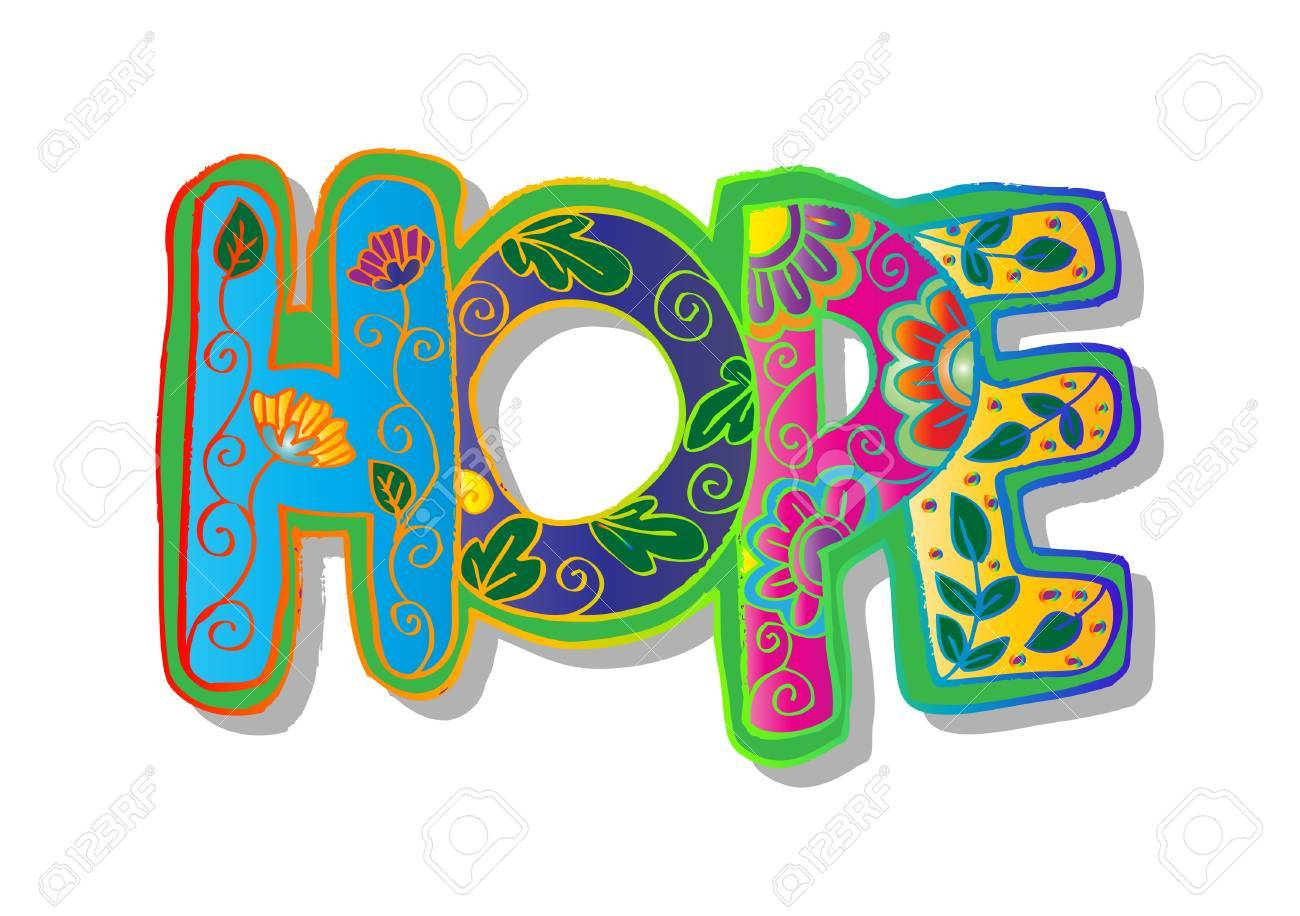 Word hope decorative stylized.